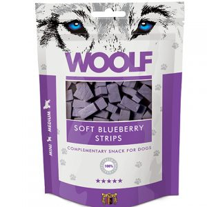 Woolf Blueberry Strips – Blåbær (og kylling)